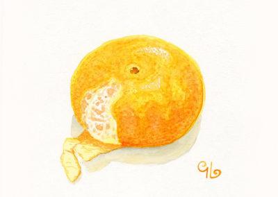 Unpeeled Mandarin